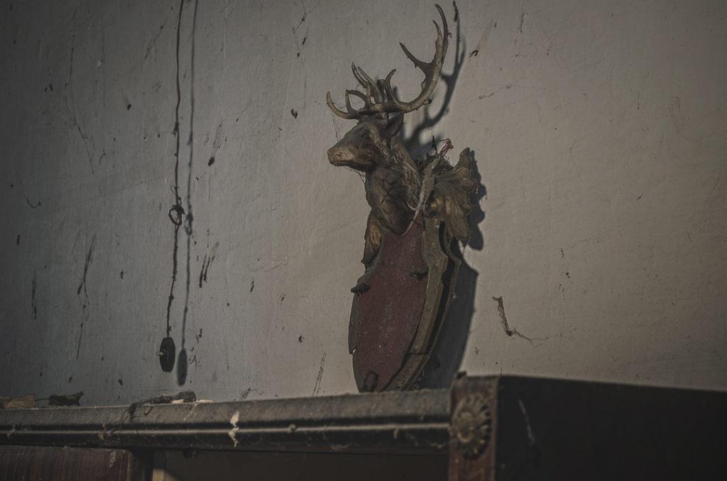 Foto inquietanti di una vecchia casa abbandonata