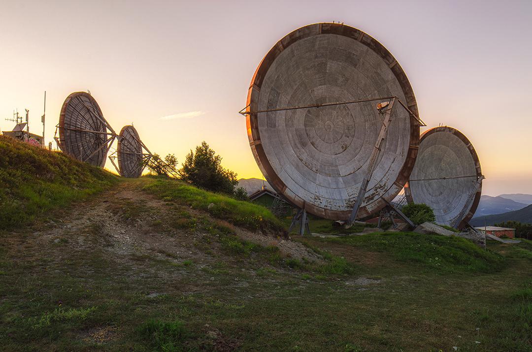 Base Militare Nato Abbandonata Antenne Paraboliche